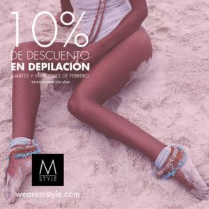10% de descuento en depilación excepto láser en Minimal Style